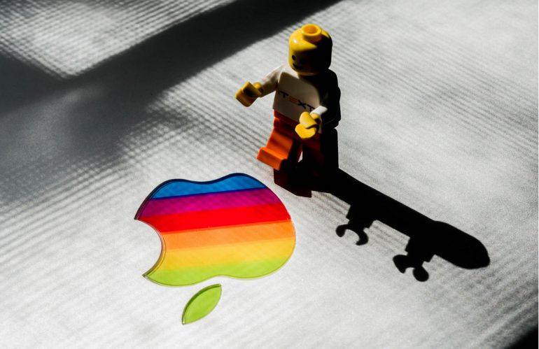 Colourful Apple logo