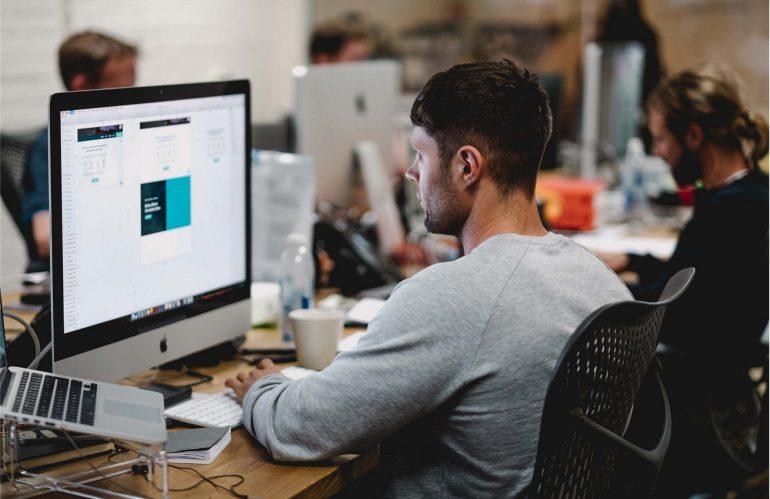 Website developers at work